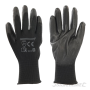 gloves black PU